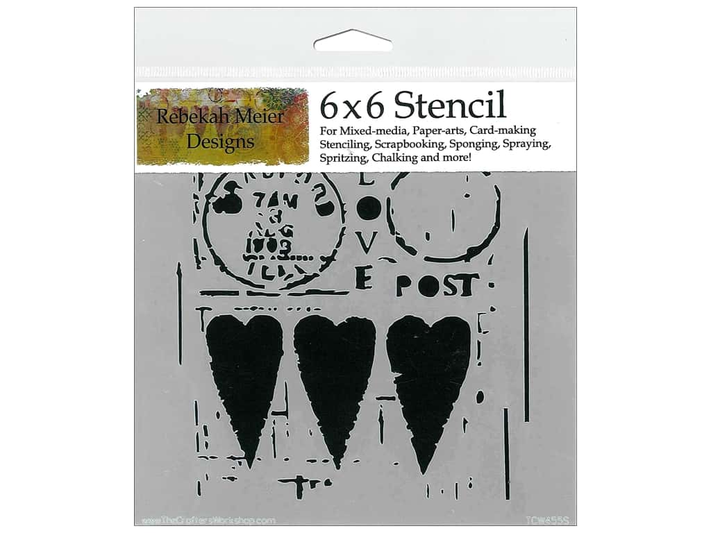 The Crafter's Workshop Template 6 x 6 in. Love Post