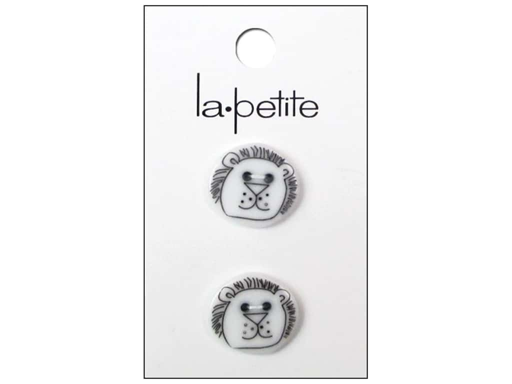 LaPetite Shank Buttons 7/8 in. Lion White #2038 2 pc.
