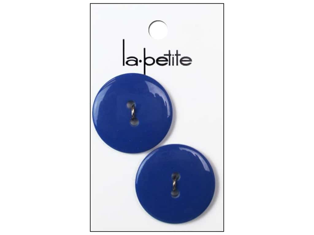 LaPetite 2 Hole Buttons 1 1/8 in. Royal Blue #2083 2 pc.
