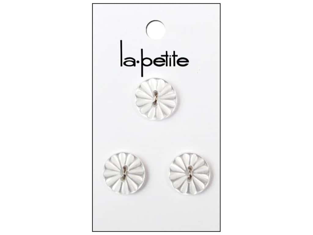 LaPetite 2 Hole Buttons 5/8 in. White #2086 3 pc.