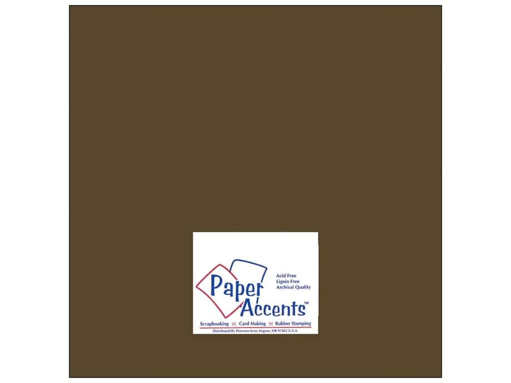 Paper Accents Cardstock 12 x 12 in. #8072 Muslin Bitter Chocolate (25 sheets)