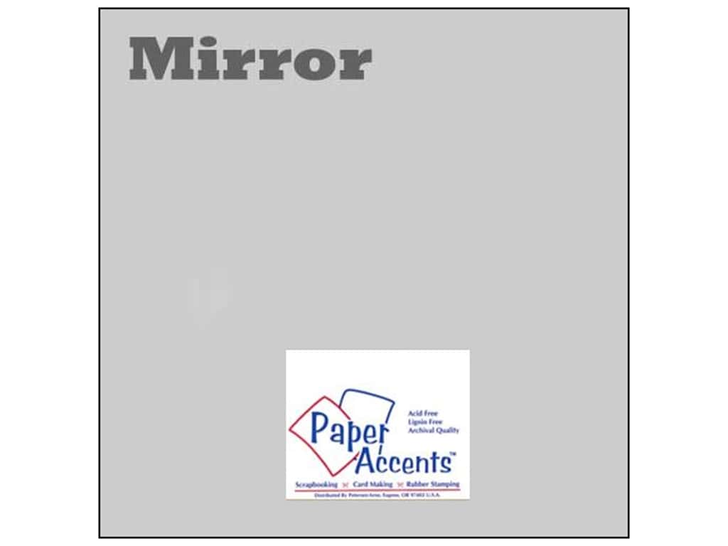 Paper Accents Cardstock 12 x 12 in. Mirror Silver 25 pc.