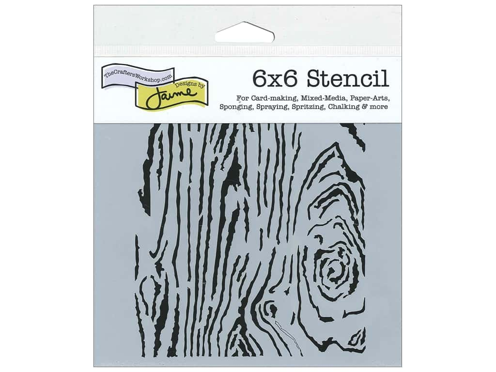The Crafter's Workshop Template 6 x 6 in. Wood Grain
