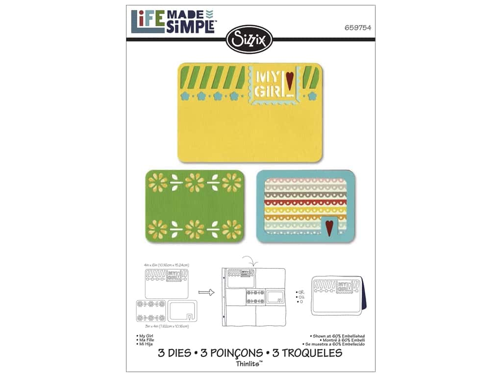 Sizzix Thinlits Die Set 3 pc. My Girl
