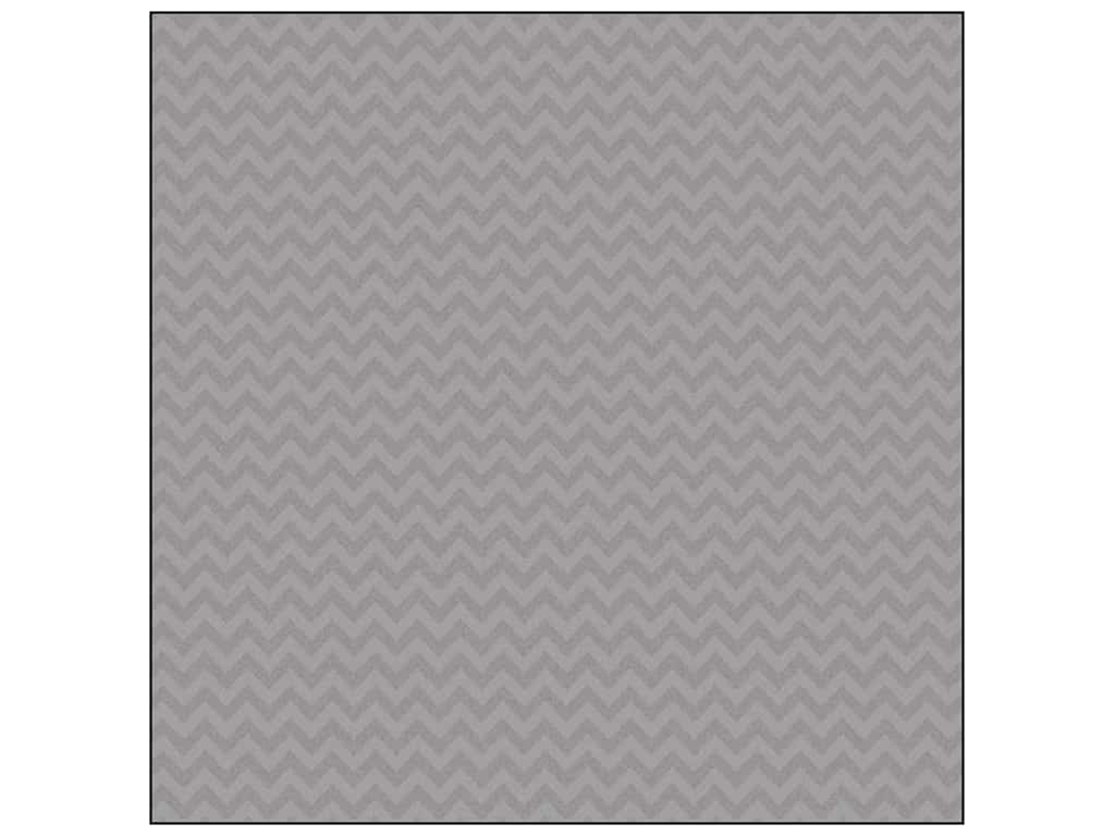 Doodlebug 12 x 12 in. Paper Sugar Coated Chevron Gray (25 sheets)