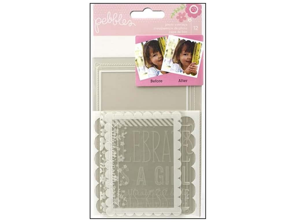 Pebbles Embellishment Special Delivery Girl Photo Overlays