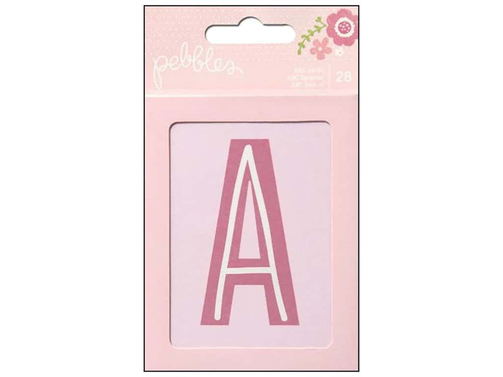 Pebbles Embellishment Special Delivery Girl ABC Cards