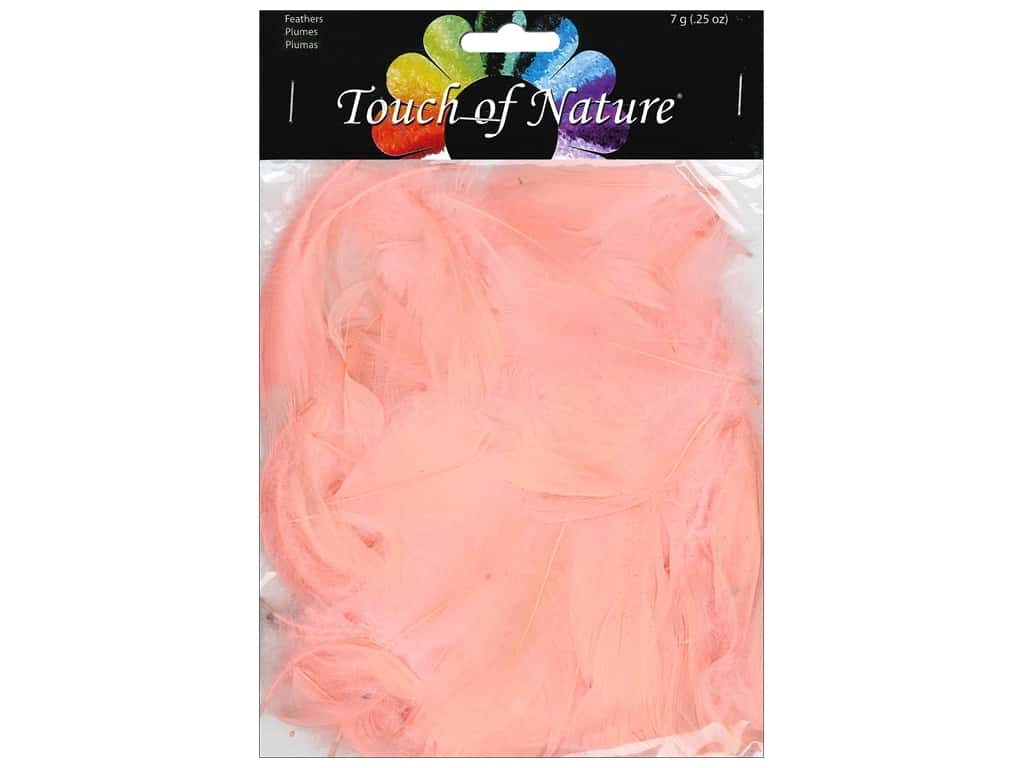 Midwest Design Goose Satinettes Feathers 7 gm. Light Salmon