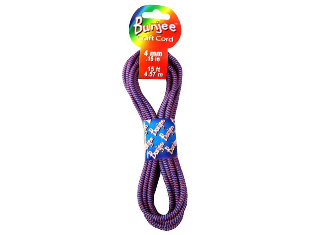 Pepperell 4mm Bungee Cord 15 ft. Royal Blue/Neon Orange
