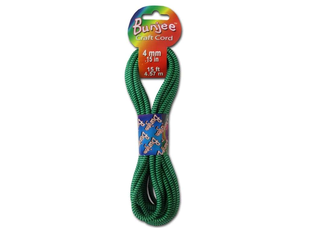 Pepperell 4mm Bungee Cord 15 ft. Green/Neon Yellow