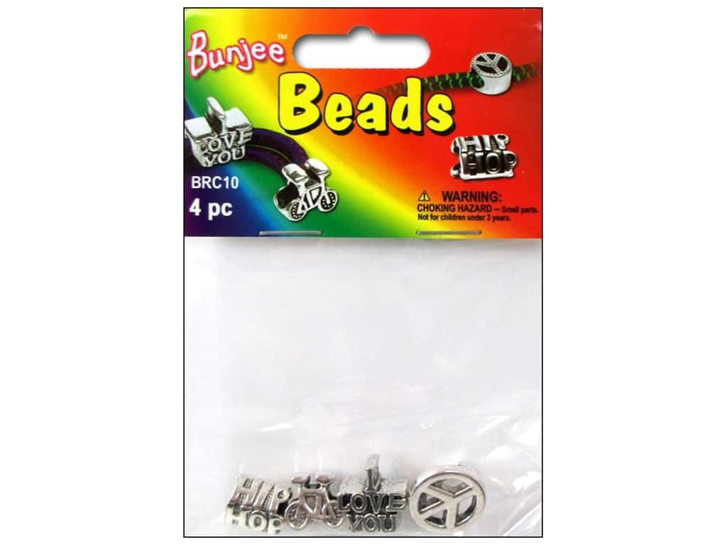 Pepperell Bungee Cord Beads 4pc