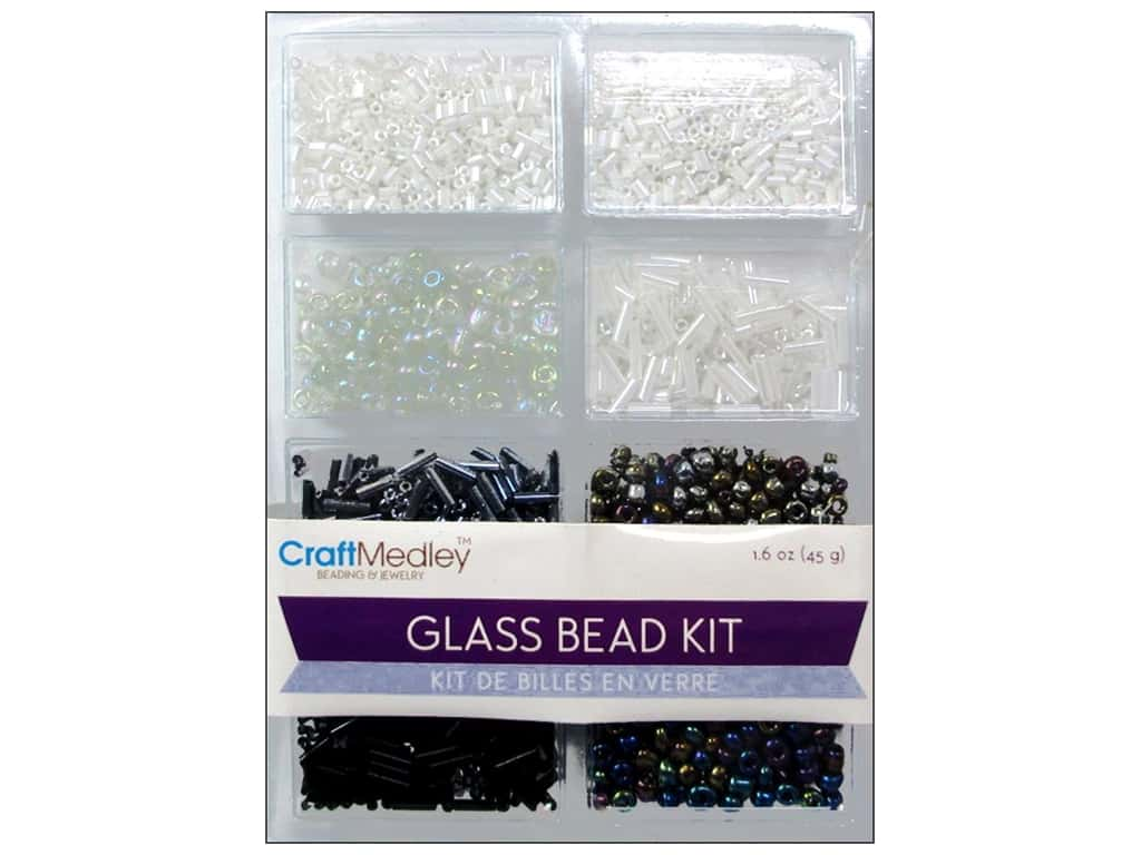 Multicraft Bead Glass Kit Mix Classic Black & White