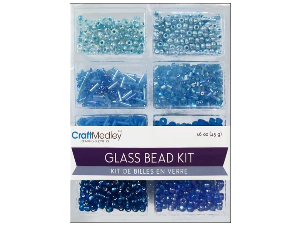 Multicraft Bead Glass Kit Mix The Blues