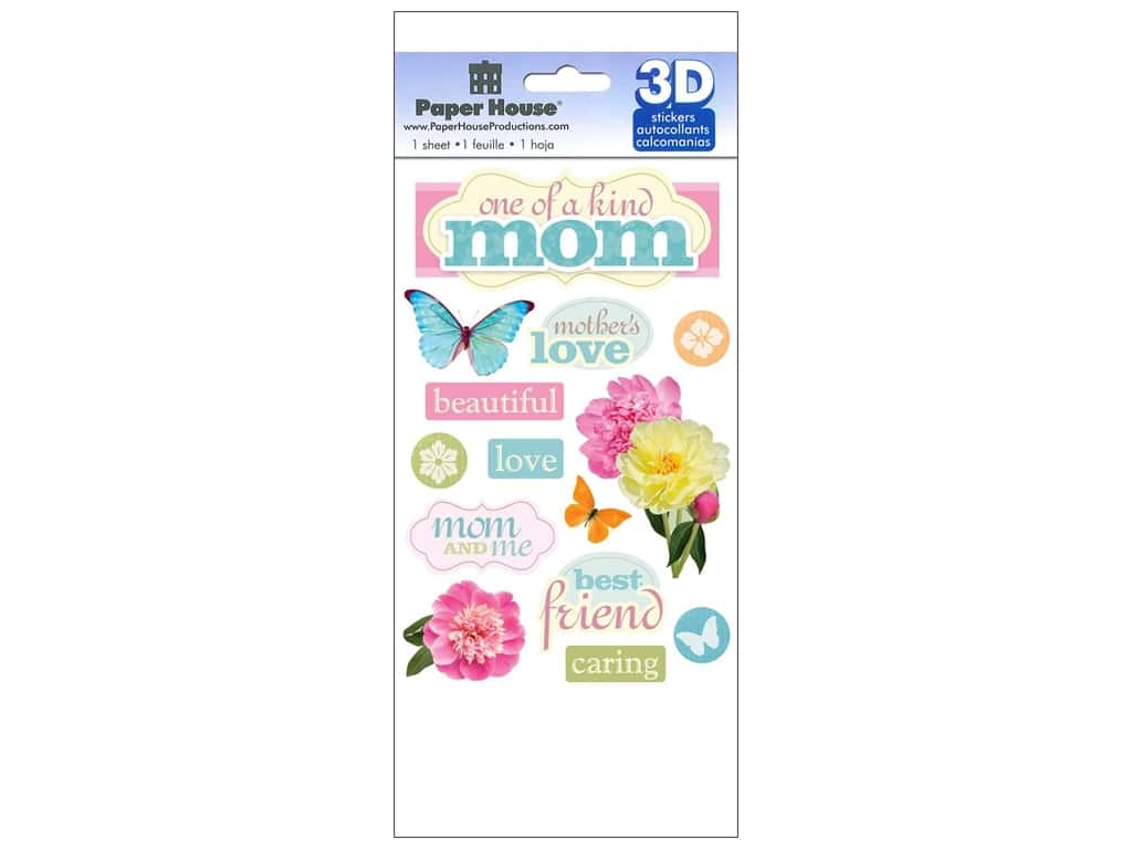 Paper House Sticker 3D Mom