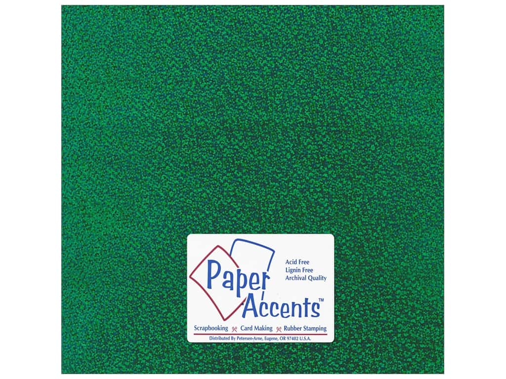 Paper Accents Adhesive Vinyl 12 x 12 in. Removable Sparkle Green (12 sheets)