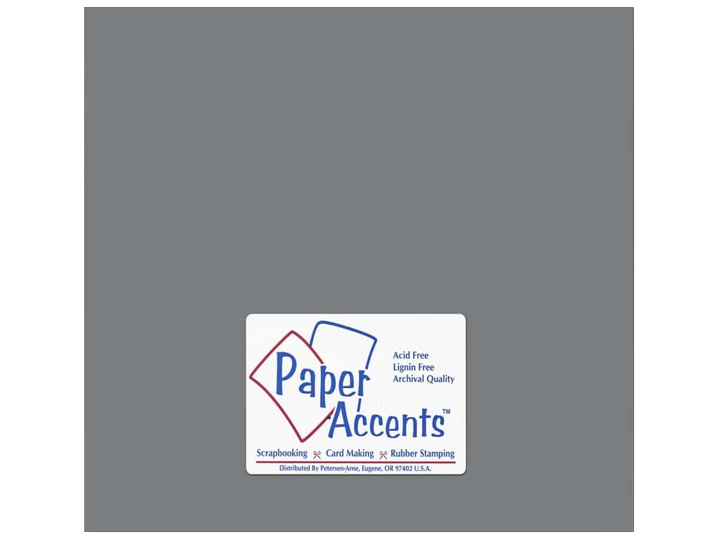 Paper Accents Adhesive Vinyl 12 x 12 in. Removable Matte Gray (12 sheets)