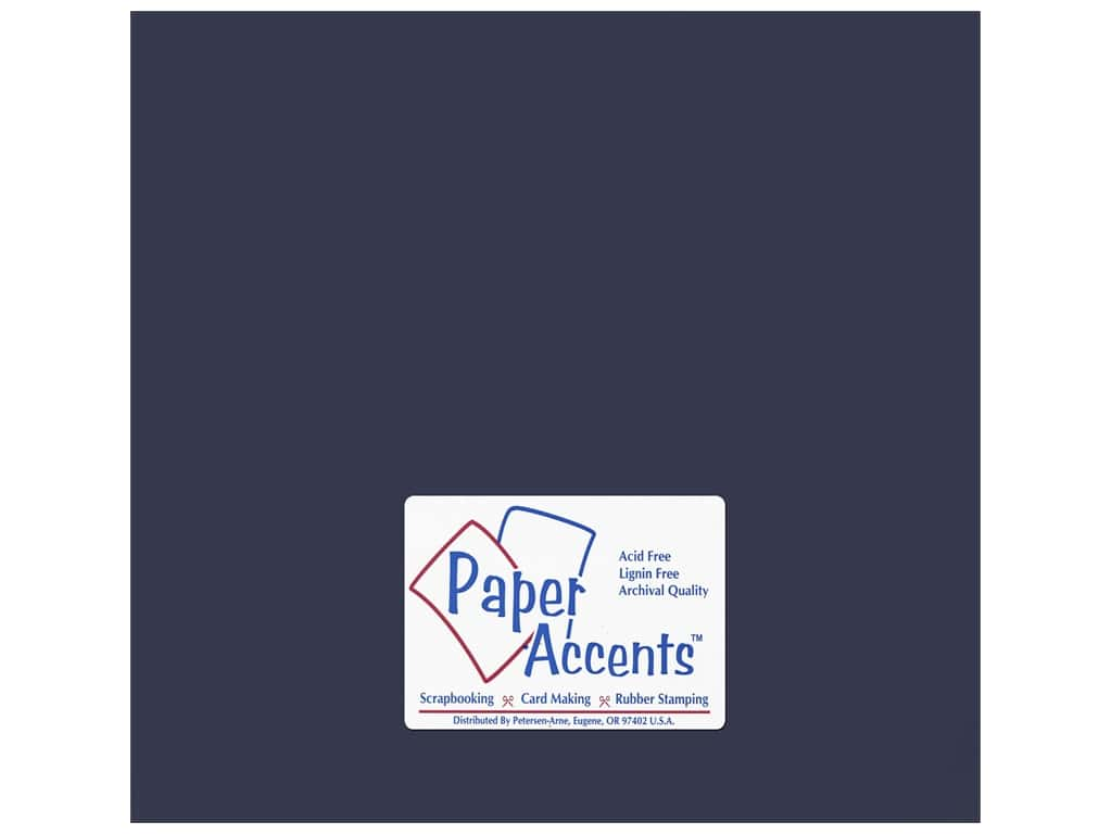 PA Adhesive Vinyl 12 x 12 in. Removable Matte Midnight Blue (12 sheets)