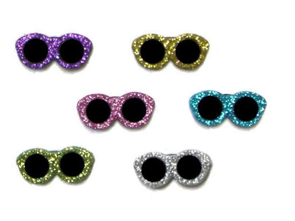 Jesse James Dress It Up Embellishments Glitter Sunglasses