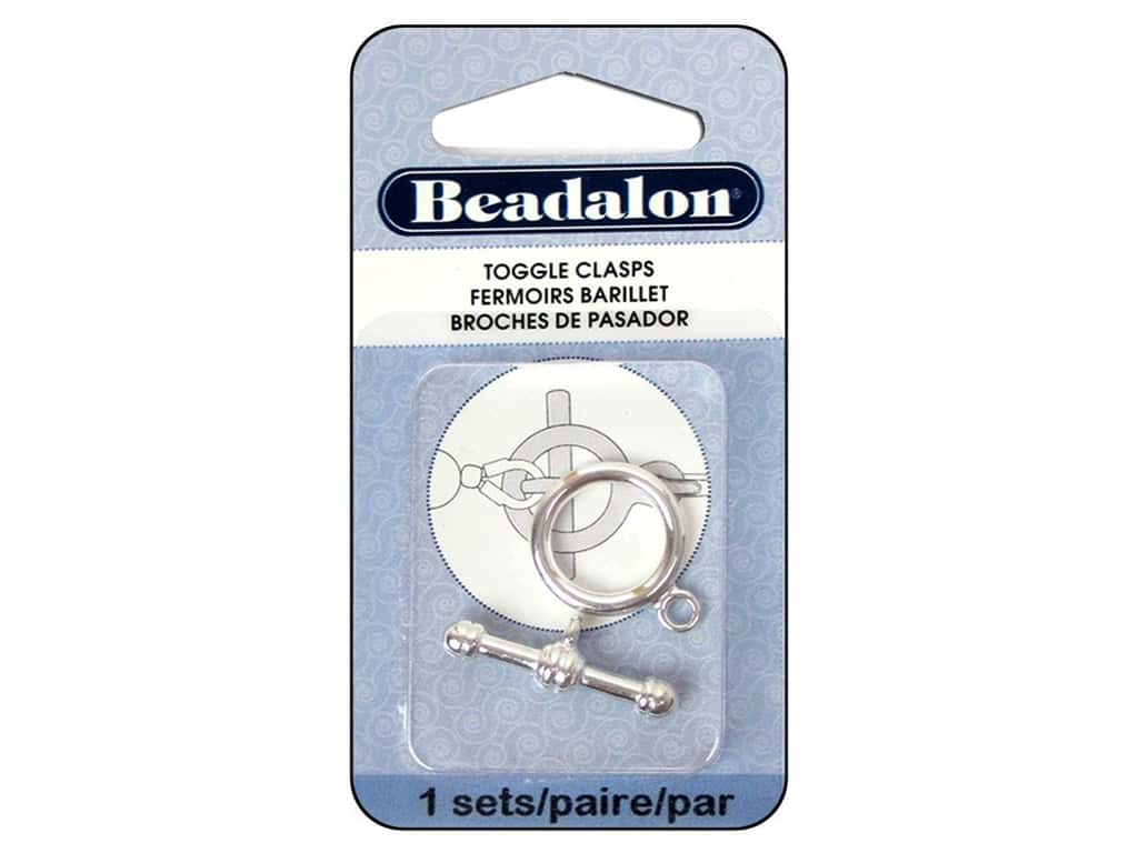 Beadalon Toggle Clasps 16.8 mm Large 1 pc. Silver