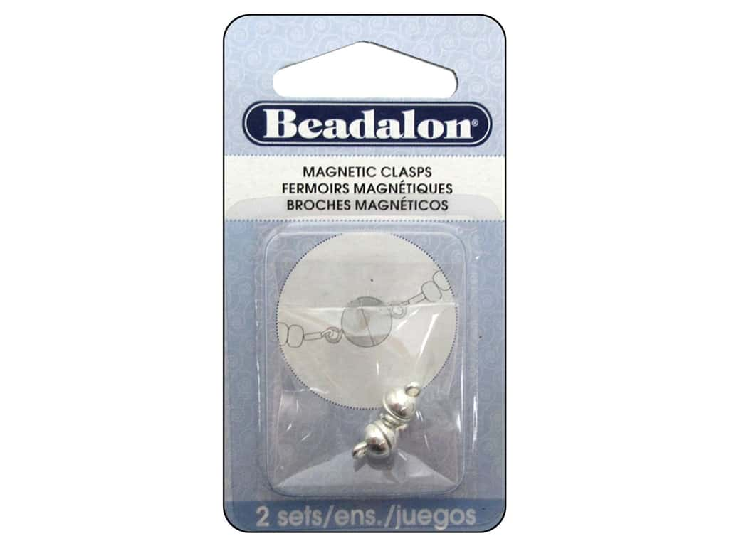 Beadalon Magnetic Clasp Round 6 mm Silver 2 pc.