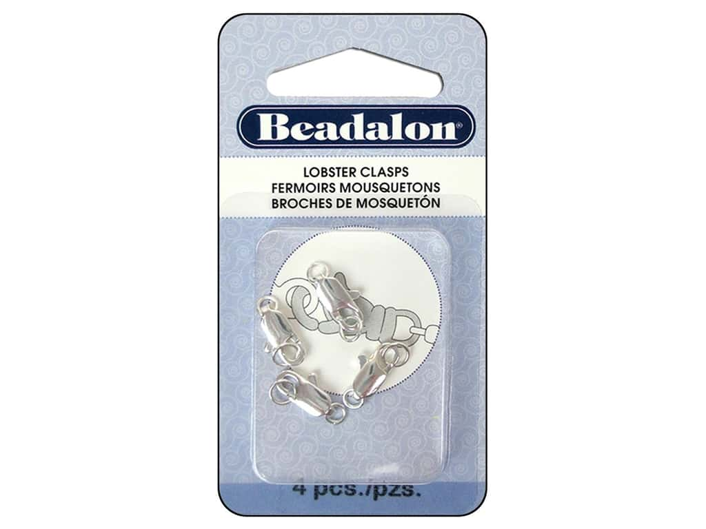 Beadalon Lobster Clasp Two Ring 12 mm Silver 4 pc.