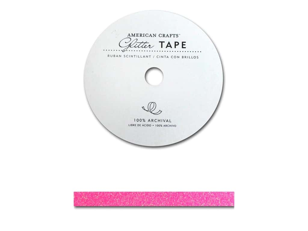 American Crafts Glitter Tape 3/8 in. Begonia