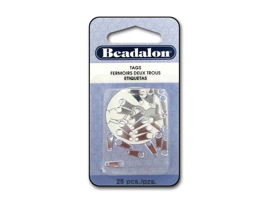 Beadalon Jewelry Tags 25 pc. 8 mm Medium Silver Plated
