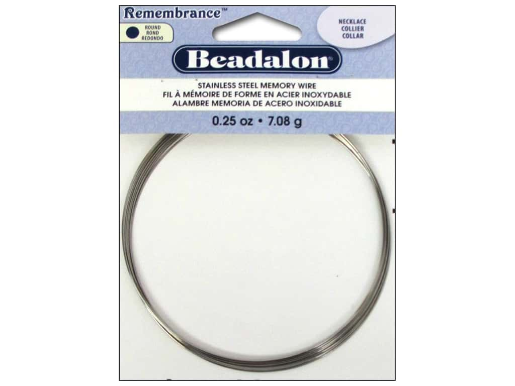 Beadalon Remembrance Memory Wire Necklace .25 oz. Bright