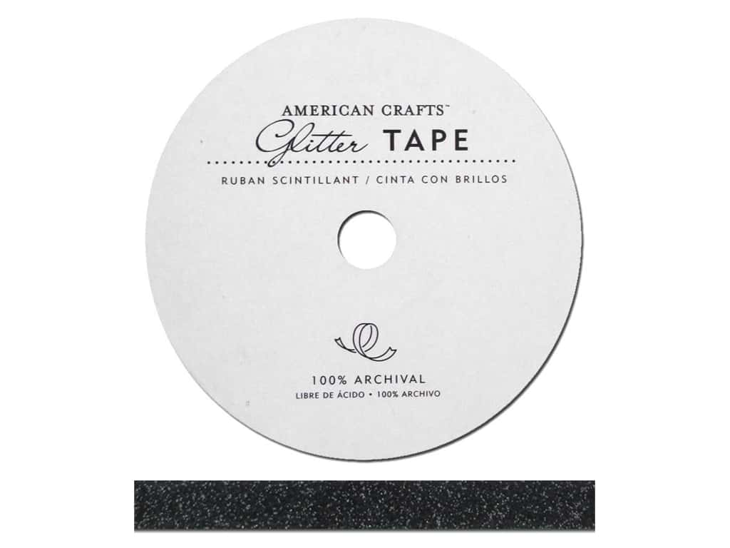 American Crafts Glitter Tape 3/8 in. Black