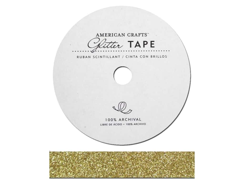 American Crafts Glitter Tape 5/8 in. Brown Sugar