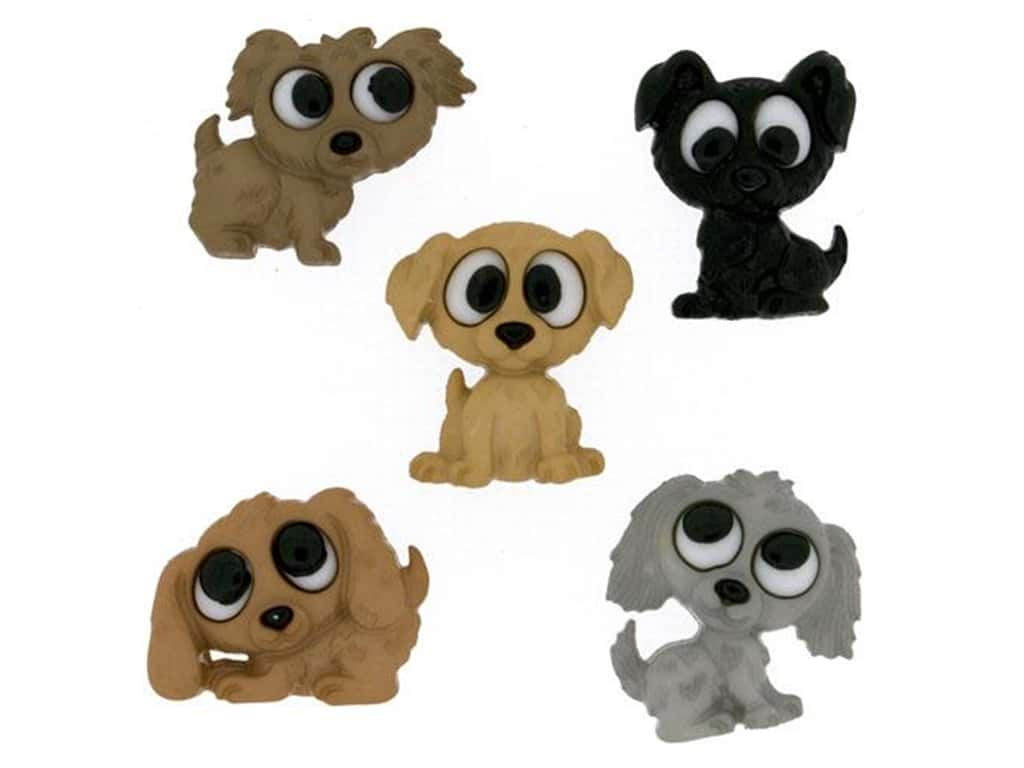 Jesse James Embellishments - Playful Puppies