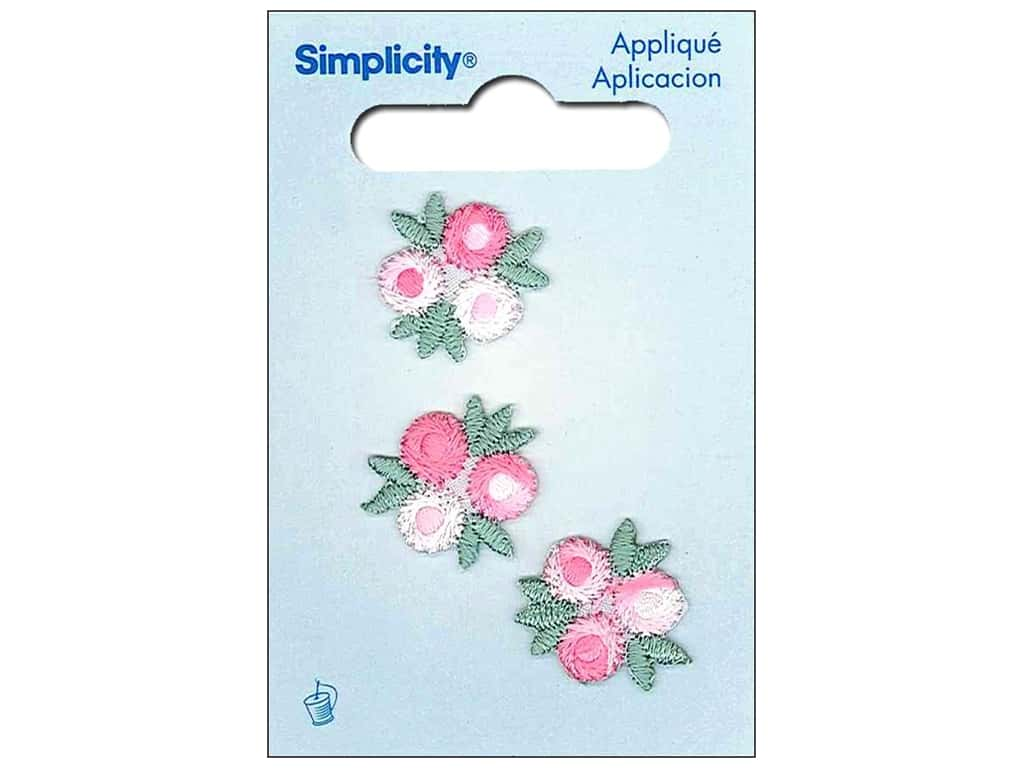 Simplicity Applique Sew On Flower Clusters Pink