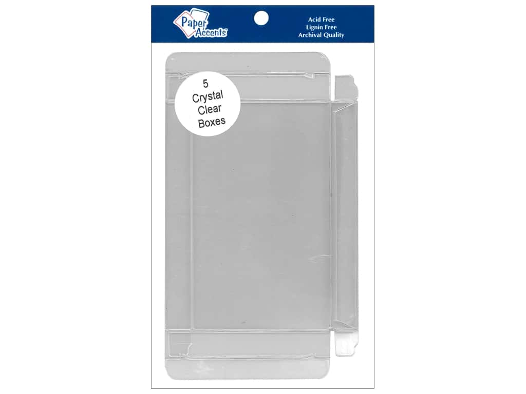 Paper Accents Crystal Clear Boxes 3 3/4 x 5/8 x 5 3/16 in. 5 pc.