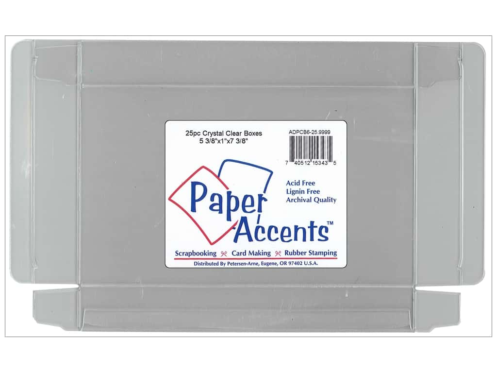Paper Accents Crystal Clear Box 5 3/8 x 1 x 7 3/8 in. 25 pc.
