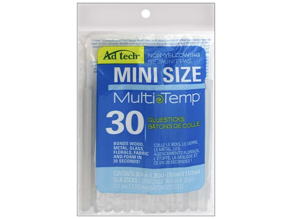 MultiTemp Hot Glue Stick Mini 4 in. 30 pc. by Adhesive Technology