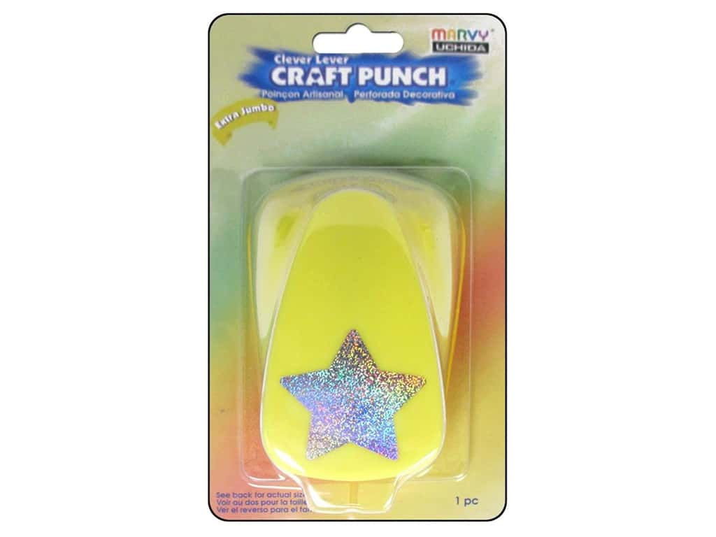 Uchida Clever Lever Extra Jumbo Craft Punch 1 3/8 in. Star