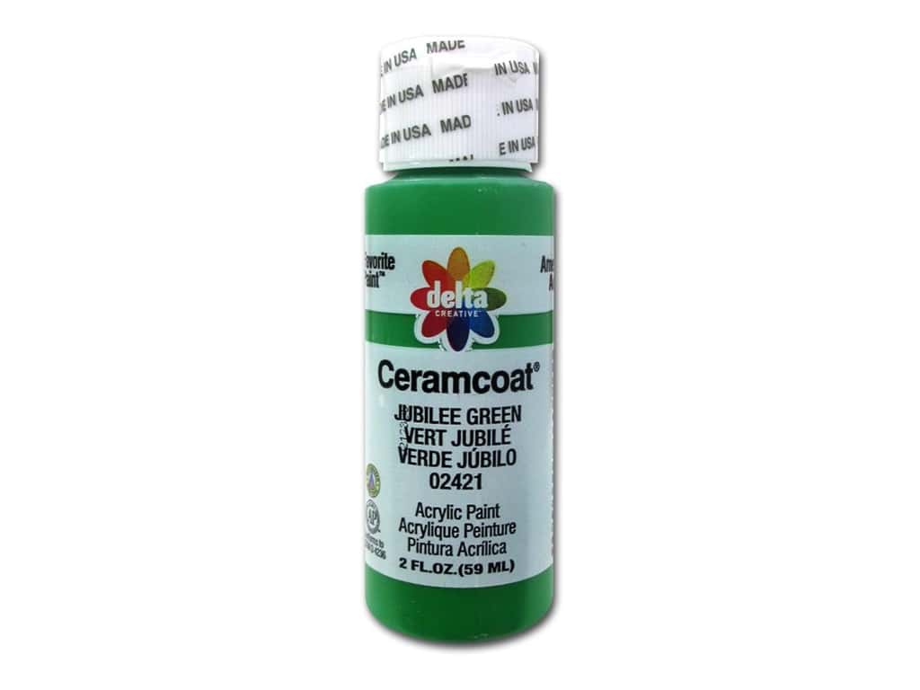 Delta Ceramcoat Acrylic Paint 2 oz. #2421 Jubilee Green