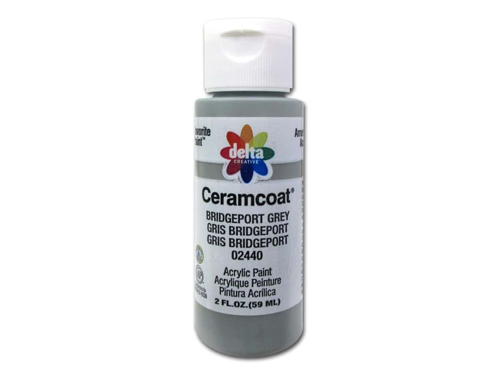 Delta Ceramcoat Acrylic Paint 2 oz. #2440 Bridgeport Grey