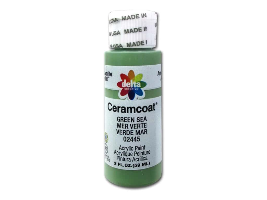 Ceramcoat Acrylic Paint by Delta 2 oz. #2445 Green Sea