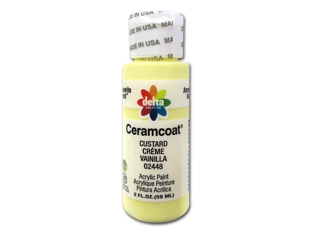 Ceramcoat Acrylic Paint by Delta 2 oz. #2448 Custard