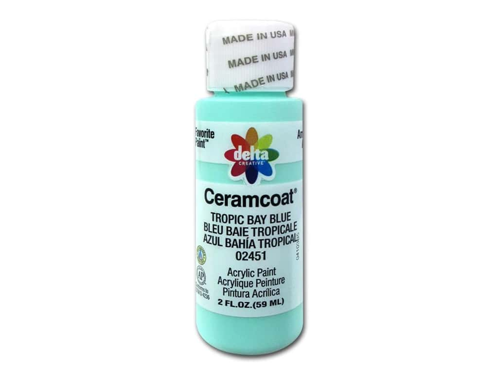 Delta Ceramcoat Acrylic Paint - #2451 Tropic Bay Blue 2 oz.