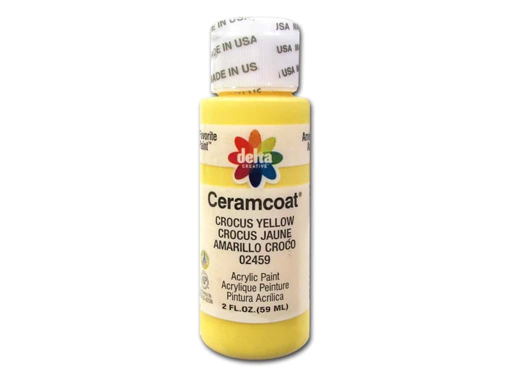 Ceramcoat Acrylic Paint by Delta 2 oz. #2459 Crocus Yellow