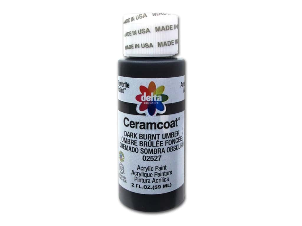Delta Ceramcoat Acrylic Paint 2 oz. #2527 Dark Burnt Umber