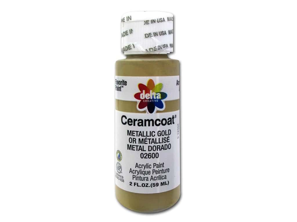 Delta Ceramcoat Acrylic Paint 2 oz. #2600 Metallic Gold