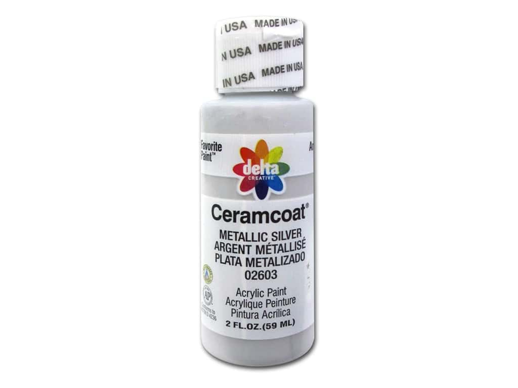 Delta Ceramcoat Acrylic Paint 2 oz. #2603 Metallic Silver