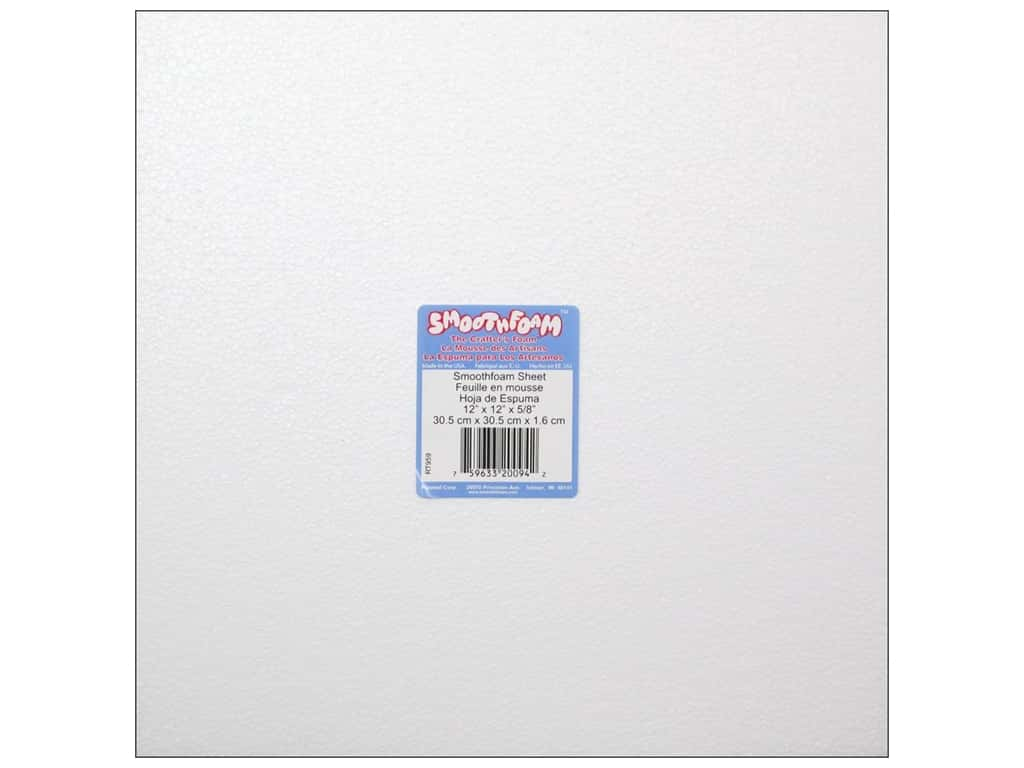 Smoothfoam Sheet 12 in. x 12 in. x 5/8 in.  White 1 pc