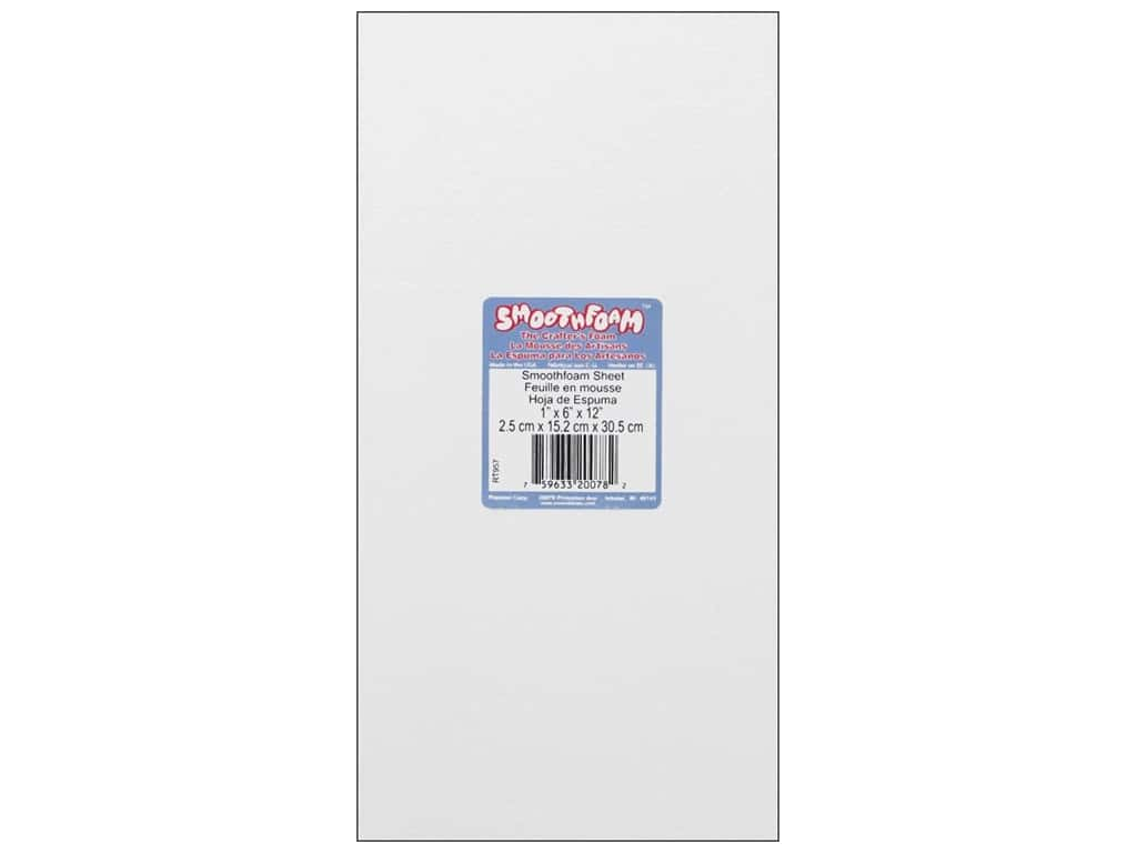 Smoothfoam Sheet 1 in. x 6 in. x 12 in.  White 1 pc