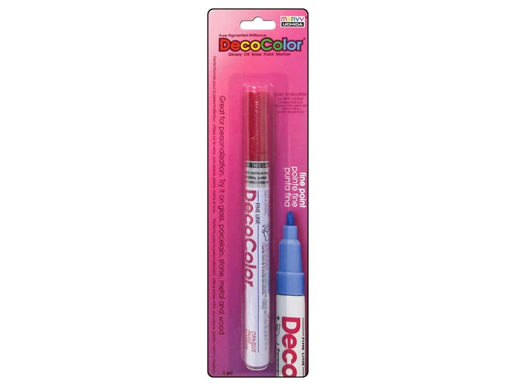 Uchida Decocolor Paint Marker - Fine Tip - Crimson Lake