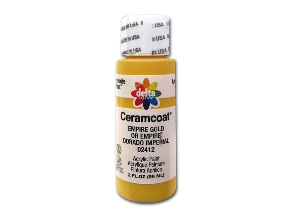 Delta Ceramcoat Acrylic Paint 2 oz. #2412 Empire Gold