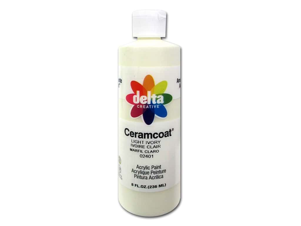 Delta Ceramcoat Acrylic Paint 8 oz. #2401 Light Ivory